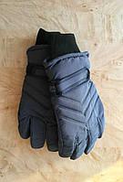 Перчатки для мальчика зимние Плащевка с утеплителем серый