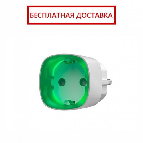 Ajax Socket – Радиоуправляемая розетка со счетчиком энергопотребления – белая, фото 1