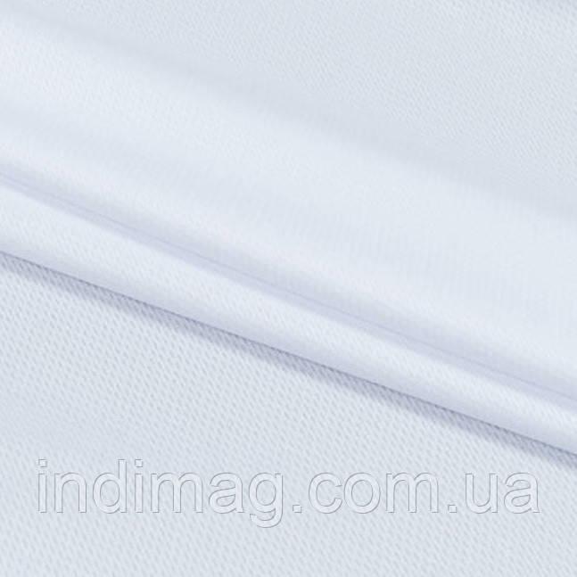 Трикотажное полотно  лакоста белый