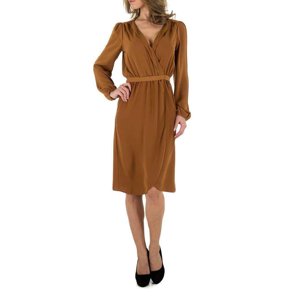 Женское платье от Voyelles, размер S/36 - Браун - KL-JW666-коричневый S