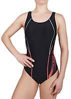 Купальник спортивный женский для плавания Rivage Line 8637, черный