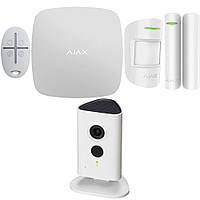 Комплект беспроводной сигнализации Ajax StarterKit (black/white) + IP камера Dahua DH-IPC-C35P