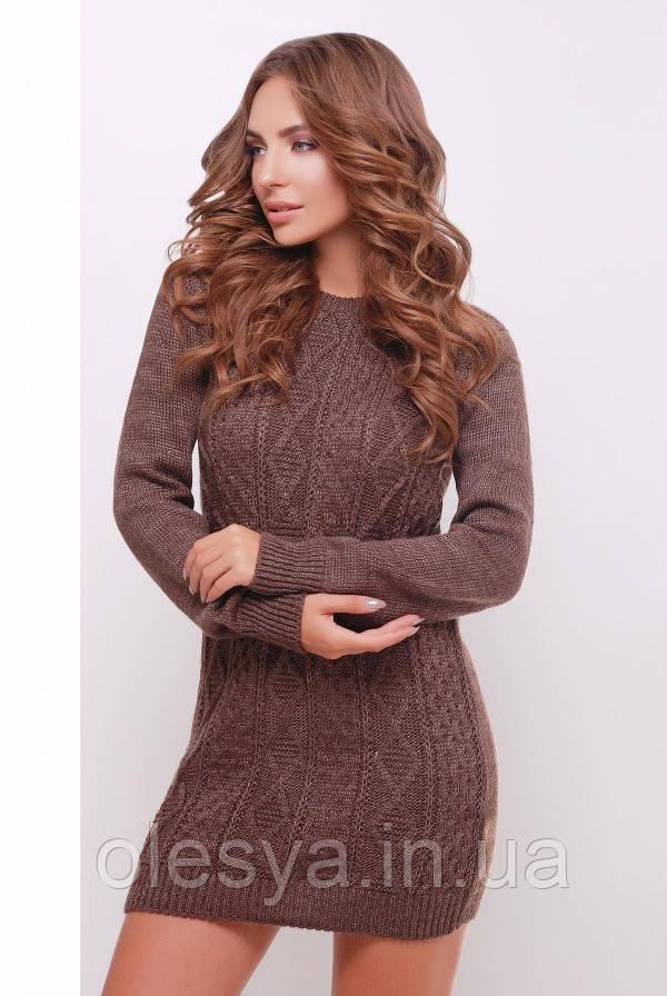 Платье-туника 143 коричневый