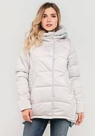Молодіжна жіноча зимова куртка на силіконі Modniy Oazis біла 90196, фото 1