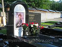 Одинарный памятник с большим фото №6