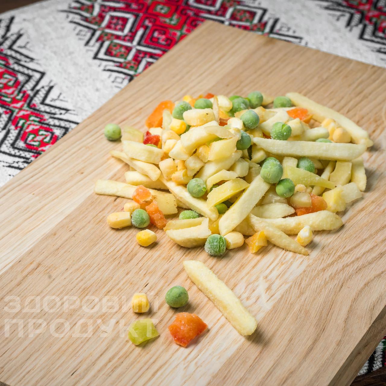 """Смесь """" Картофель фри с овощами"""" (картофель фри, кукуруза, горох, перец) замороженная"""