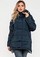 Молодежная женская зимняя куртка на силиконе Modniy Oazis черная 90196/3, фото 1