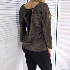 Женская кофта с завязками на спинке , фото 3