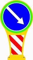 Дорожні знаки ( Тумба сигнальная )