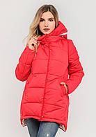 Молодежная женская зимняя куртка на силиконе Modniy Oazis красная 90196/1, фото 1