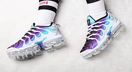 "Кроссовки женские Nike Air VaporMax Plus ""Blanche/Violet-Vert"" / 924453-101 (Реплика)"