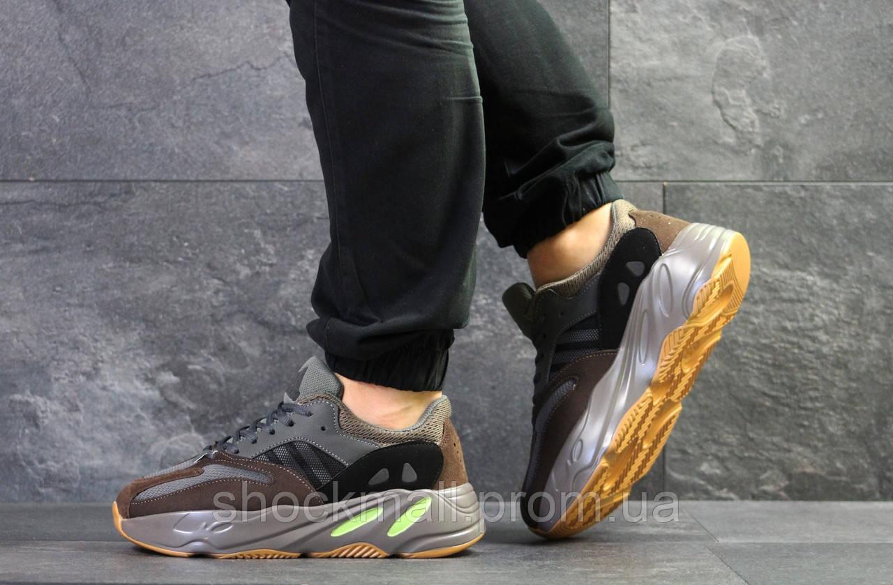 half off adee4 40d98 Кроссовки мужские Adidas x Yeezy Boost 700 OG серые с коричневым реплика