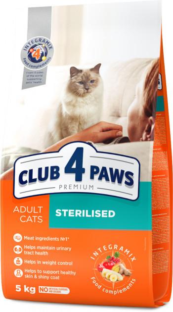 Сухой корм Клуб 4 Лапы Премиум для стерилизованных кошек, 5 кг