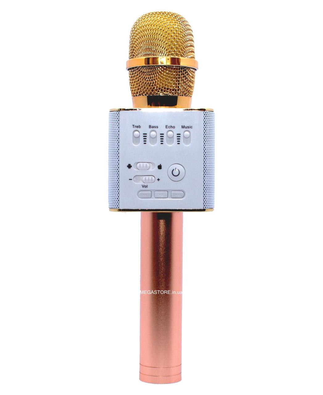 Беспроводной караоке Bluetooth микрофон с колонкой Q9