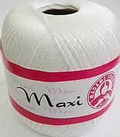 Пряжа Макси 100% хлопок Madame Tricote (1000) белый