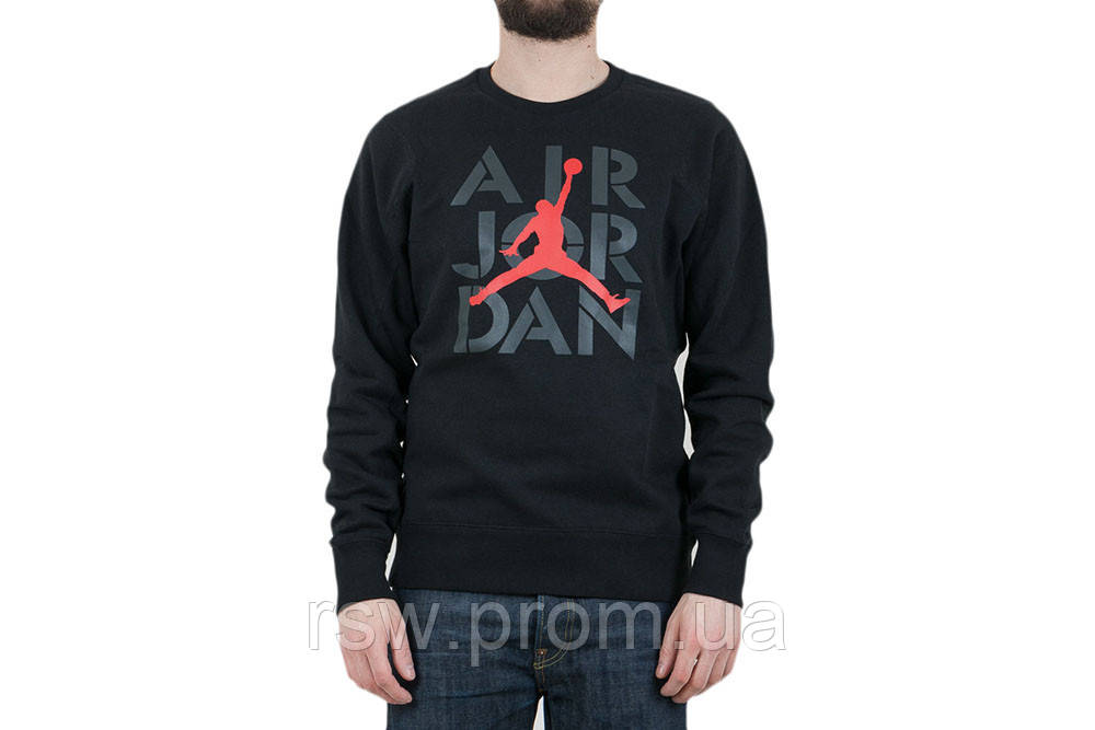 525742e6 Свитшот Air Jordan черный 17212 (XS, S, M, L, XL, XXL), цена 495 грн ...