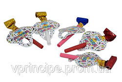 Свисток-язычок пластиковый в наборе 5 штук