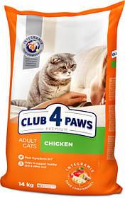 Сухой корм для кошек Клуб 4 лапы Премиум с куриным филе, 14 кг