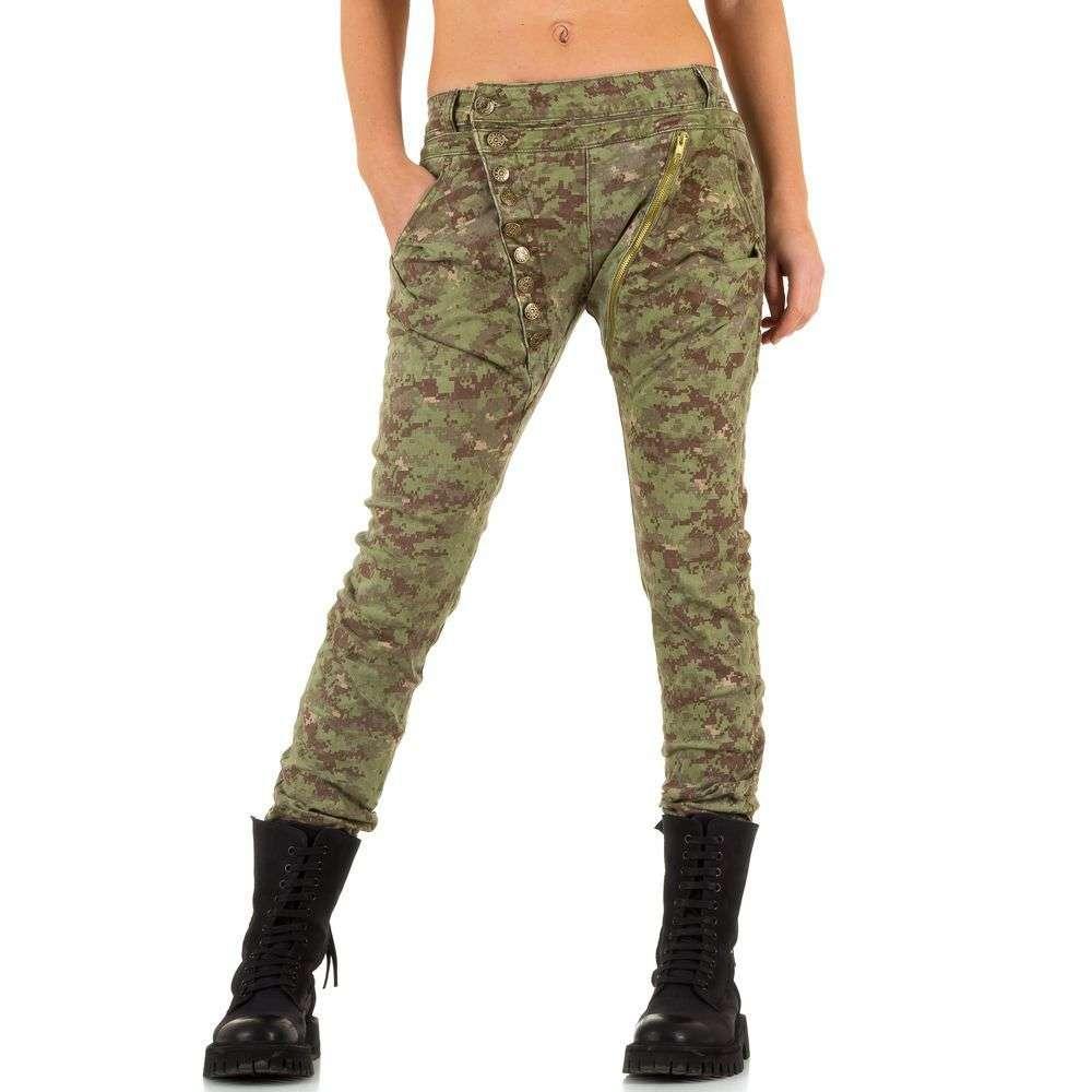 Женские джинсы бойфренды в армейском стиле Mozzaar (Европа) Хаки XL/42