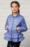 Модная куртка демисезон на девочку«Инесс» лаванда ТМ MANIFIK
