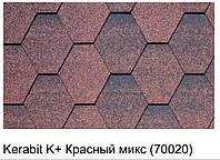 Битумная черепица KERABIT K+ красный микс