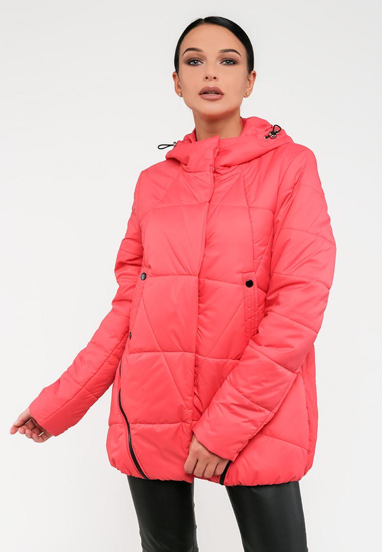 Демисезонная женская короткая куртка на силиконе на молнии Modniy Oazis розовая 90225/1, фото 1