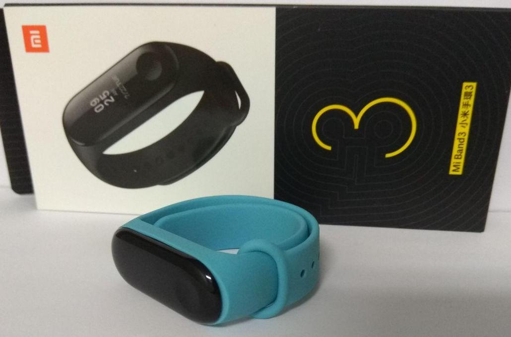 Фитнес-трекер Xiaomi Mi Band 3 Black Оригинал + ремешок Бирюза Гарантия 3 месяца