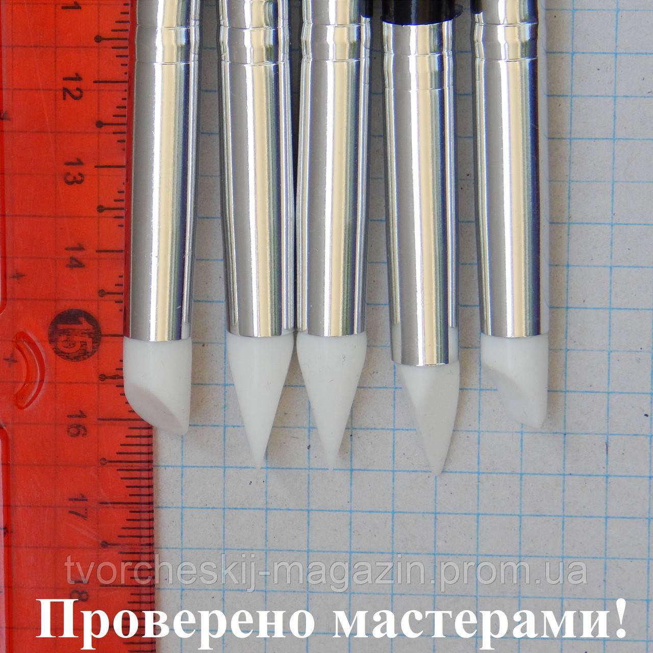 Силиконовая кисть для лепки скошенная с 2-х сторон треугольником, 1 шт