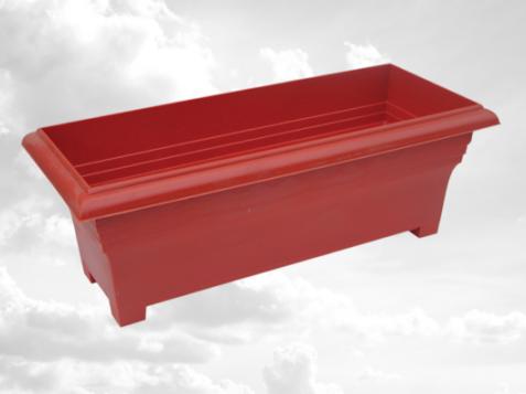 Пластиковий ящик балконний декоративний, короткий, №3(600*250мм),Од
