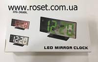 Настольные светодиодные электронные зеркальные часы DC-3618L – Led Mirror Clock