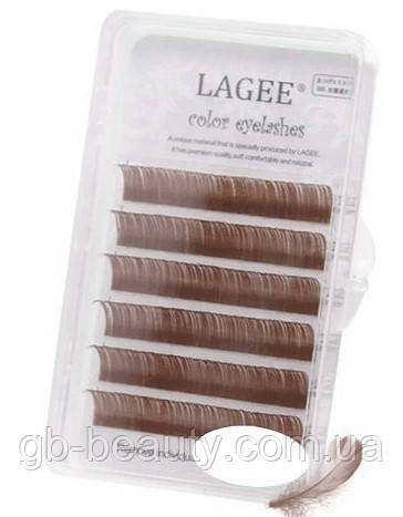 Ресницы NAGARAKU LAGEE (коричневые) 0,1 C 10 (6 линий)