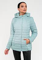 Демисезонная женская короткая куртка с капюшоном Modniy Oazis голубая 90229/1