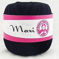 Пряжа Макси 100% хлопок Madame Tricote (9999) черный