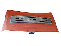 Душевой канал 330 мм/Ду 50 горизонтальный н/ж решетка MST