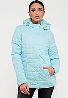 Демисезонная женская короткая куртка с капюшоном Modniy Oazis светло-голубая 90229/2