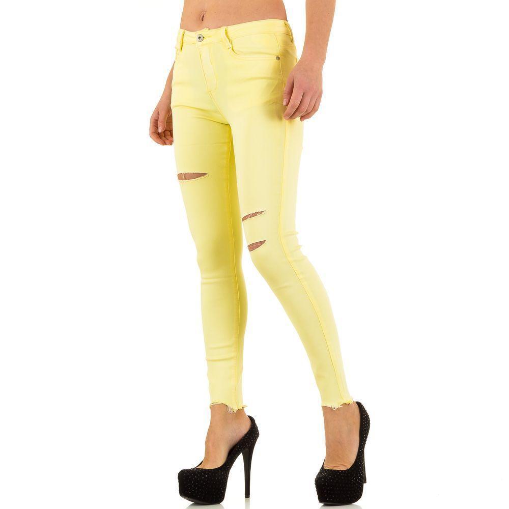 0c79a7e9d769 Женские джинсы скинни рваные производителя Goldenim (Франция), Желтый  купить оптом в ...