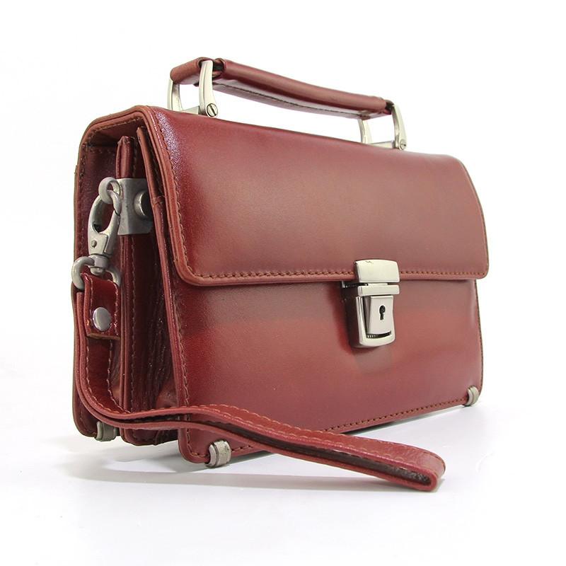 8648561e49fa Барсетка классическая des-1088-5 коричневая кожаная Desisan - Интернет  магазин сумок SUMKOFF -