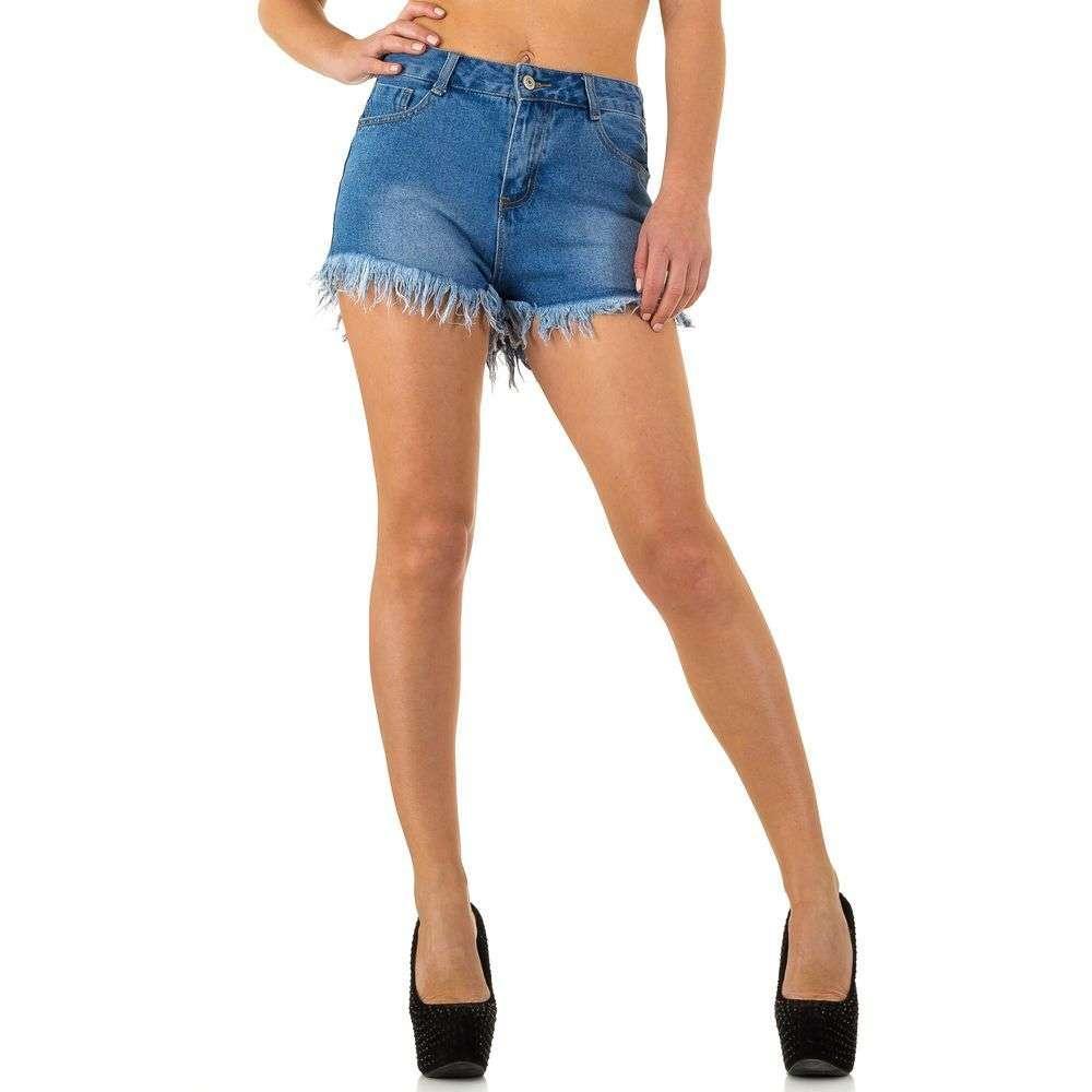 Рваные джинсовые шорты с необработанным низом от Daysie Jeans (Европа) Голубой