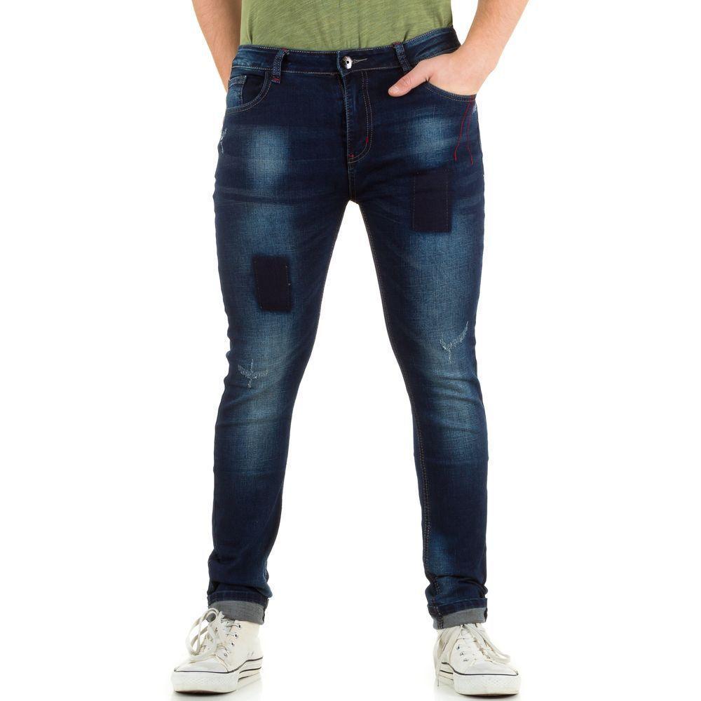 Узкие джинсы мужские N&P 79 (Европа), Синий