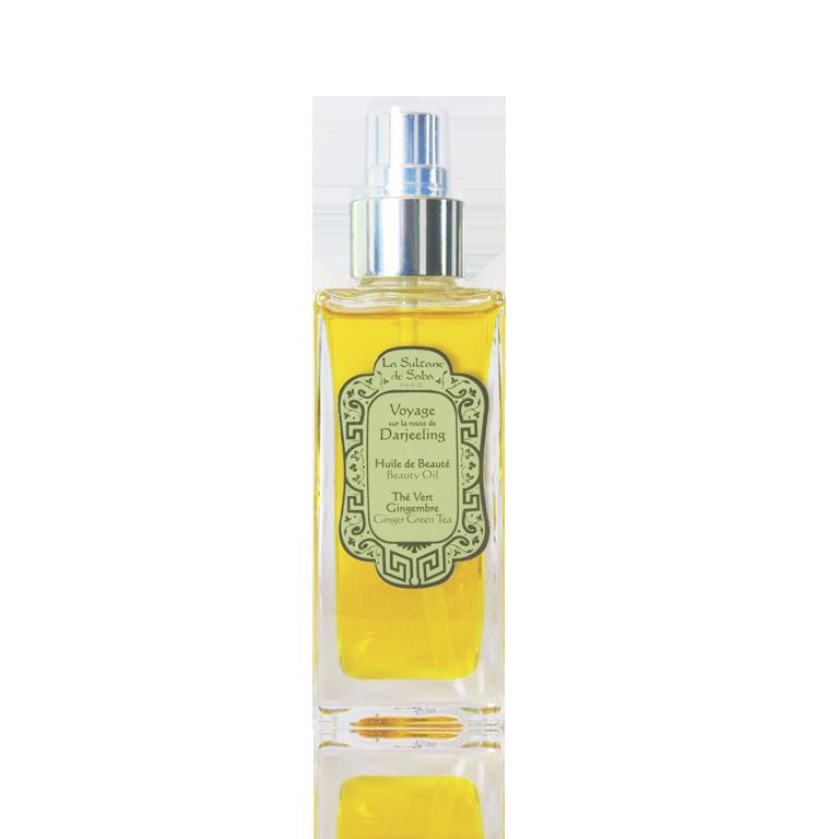 """Масло для тела, волос, массажа и ванны """"Зеленый чай/Имбирь"""" 50мл La Sultane de Saba BEAUTY OIL - GINGER GREEN"""