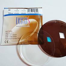 Фотохромная  оптическая линза Dagas 1.55