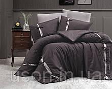 Комплект постельного белья сатин delux first choice евро размер Dream style bitter