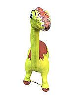 Декоративная скульптура из бетона Динозавр салатовый 130х90х см 50 кг