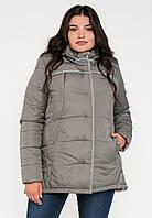 Молодежная зимняя женская куртка свободного кроя на силиконе Modniy Oazis серая 90246, фото 1
