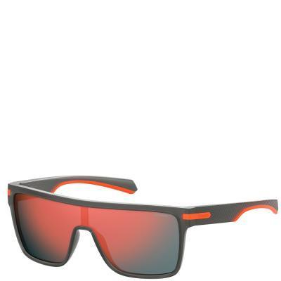 Солнцезащитные очки Polaroid Очки спортивные мужские с поляризационными  ультралегкими зеркальными линзами POLAROID (ПОЛАРОИД) POL2064S 7fafedf499f4a