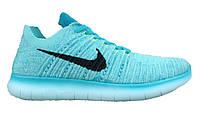 dfe18f77 Кроссовки женские Nike Free Run Flyknit Blue/Black (Реплика ААА класса)