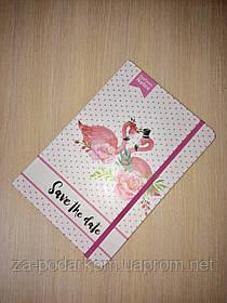 Блокнот Flamingo для записей в линию с фламинго розовый А5