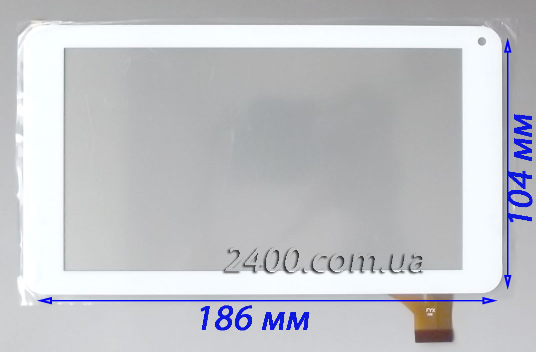 Сенсор (тачскрін) для планшета Bravis NB70 білий 186*104 мм 30pin