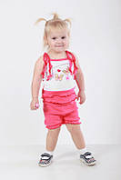 Комплект летний для девочек майка и шорты