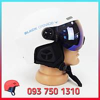 Шлем горнолыжный с визором / очками Black Crevice Ski Helmet 58-61 см